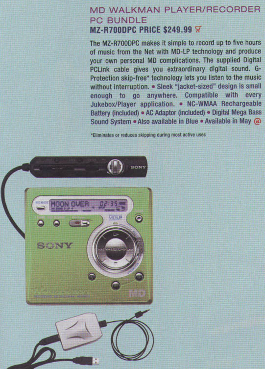 Md community page: sony mz-r700.